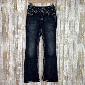 Silver Suki Fit Flap Pocket Dark Wash Jeans 26/32